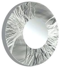 large round wall mirror large round metal wall art unique framed round wall mirror handmade silver