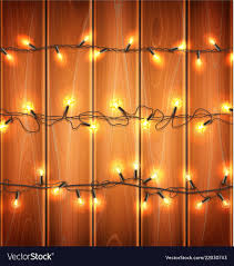 Wood With Lights Christmas Lights Realistic Garland On Wood