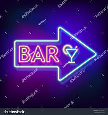 neon word signs.  Neon Immagine Vettoriale Stock A Tema Retro Neon Sign Word Bar Vintage 367495202   Shutterstock With Signs S