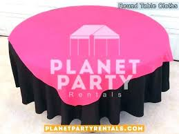 black round tablecloth white