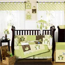 image of ikea baby bedding green