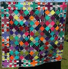 160 best LITTLE ISLAND QUILTING images on Pinterest | Jelly rolls ... & Little Island Quilting: Oakshott Cottons quilt - black and white mixed with  colors Adamdwight.com