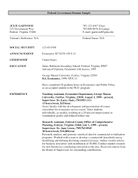 Resume Federal Government Format New Endearing Resume Format For