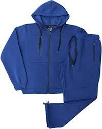 Fort Fashion <b>Men's</b> Open Bottom <b>Fall and</b> Winter Sweatsuit FleeceSuit