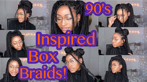Box Braids Hair Style 90s inspired box braids hairstyles youtube 7553 by wearticles.com