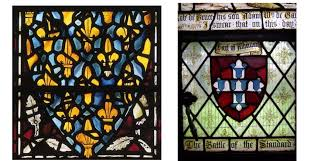 heraldic stained glass panels from the meval and modern eras