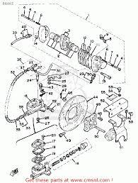 Yamaha rc100s kt100s race kart brake schematic partsfiche