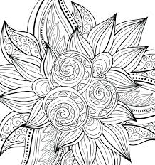 Flowers Coloring Pages For Adults Free Printable Flower Coloring