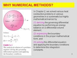why numerical methods