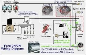 alternator wiring diagram ammeter wiring diagram schematics ignition wiring diagram ford 8n front mount ignition wiring