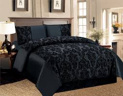 4 pcs duvet cover damask quilted luxury bedding