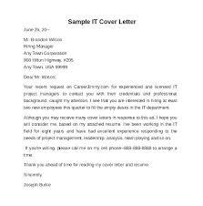 Samples For Cover Letters Sample Letter The Job Application