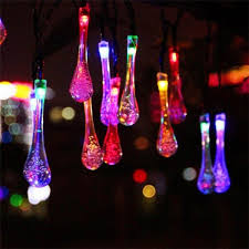 cheap outdoor lighting for parties. Solar Colorful Raindrop 20 LED String Fairy Lights Party Decoration Cheap Outdoor Lighting For Parties
