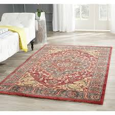 safavieh mahal collection mah621c traditional oriental navy and red area rug 3 x 5