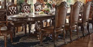 vendome traditional formal double pedestal 94 136 dining table in cherry