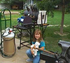 how to make a gas forge. my big gas forge, daughter natalie, and 12\ how to make a forge