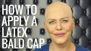 how to apply a latex bald cap