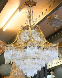 Empire Kronleuchter Lampe 14 Flammig Kristall Lüster Villa