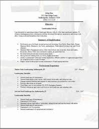 Landscaping Resume Be One Landscaping Resume Samples