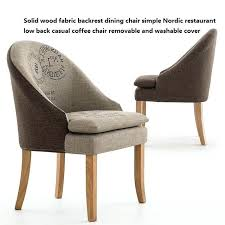 low back chairs solid wood fabric backrest dining chair simple restaurant low back casual coffee chair low back chairs 2 made com dining