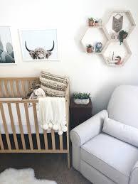 baby bedroom wonderful grey yellow woodland nursery themes hexagon stucks animal frames wall decoration wood crib