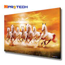 7 Horse Wall Painting - 1000x1000 ...