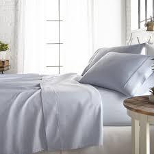 4 piece light blue 800 thread count cotton rich california king bed sheet set