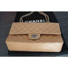 beige chanel bags. chanel timeless classic shoulder bag beige leather a164694 bags