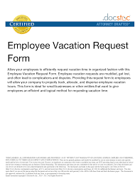 Vacation Leave Application How Competent Portrayal Request Letter