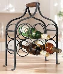 countertop wrought iron wine rack