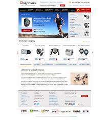 Miva Merchant Web Design Bodytronics Com Home Page Mockup Miva Merchant