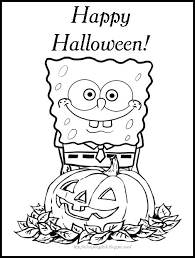 Free Spongebob Halloween Coloring Pages Free Printable Kids Coloring