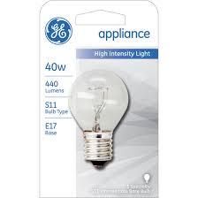 ge 40w high intensity appliance light bulb
