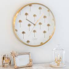 aluminium clock with palm tree motifs maisons du monde