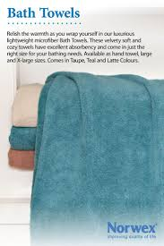 Norwex Bath Towel Lightweight, soft, supple and super absorbent. Dries very  quickly.