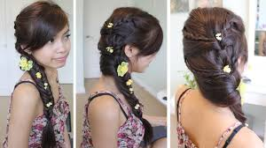 Fancy Hair Design Fancy Fishtail Braid Hairstyle For Medium Long Hair Tutorial