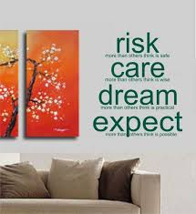 wall art for office. Risk Care Dream Expect Decal Sticker Wall Art Tattoo Words Inspire Office Home Decor Teen For W