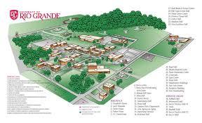 general campus maps Ohio Colleges Map universitiy of rio grande and rio grande community college map ohio college map