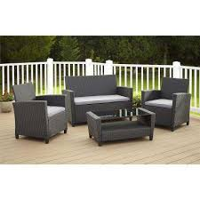 outdoor resin wicker chairs canada. malmo 4-piece black resin wicker outdoor chairs canada