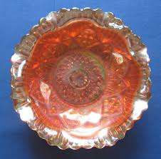 Carnival Glass Patterns Simple Antique Vintage Marigold Carnival Glass Bowl Diamond Rib And