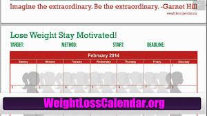 Weight Loss Calendar Weight Loss Calendar For Women Free 2014 Weight Loss Calendar