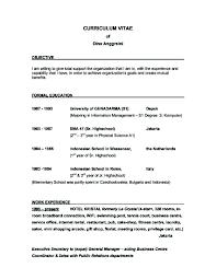Good Resume Objective Examples Sonicajuegos Com