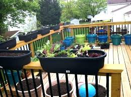 deck railing planter boxes white rail planters box flower s12