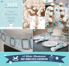 Winter Wonderland Baby Shower Party Decorations You Can DIY