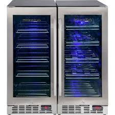 quiet beer wine bar fridge yc100 combo 6