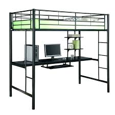 metal loft bed bunk with desk underneath bedroom50 metal