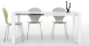 bramante extendable square dining table in white  madecom