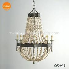 wood beaded chandelier new country style wood beads chandelier lighting wrought iron antique classic pendant lamp wood beaded chandelier