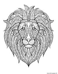 Small Picture adult lion head Coloring pages Printable
