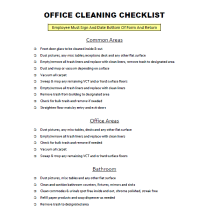 Free Download Office Cleaning Checklist Cleaning Blog Cleaning